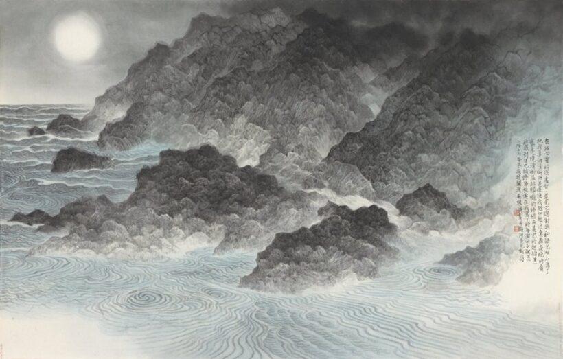 Vẽ tranh thuỷ mặc phong cảnh biển
