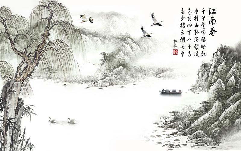 Vẽ tranh thuỷ mặc phong cảnh đẹp nên thơ