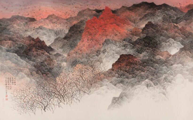 Vẽ tranh thuỷ mặc phong cảnh rừng núi