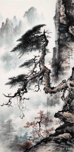 Vẽ tranh thuỷ mặc rừng núi