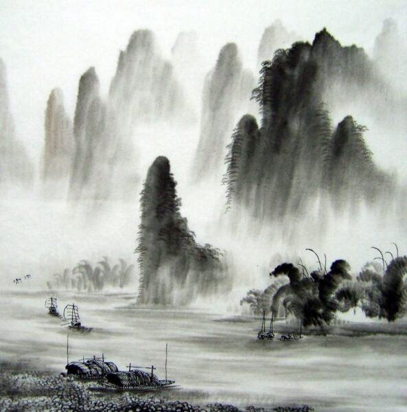 Vẽ tranh thuỷ mặc Trung Quốc cổ