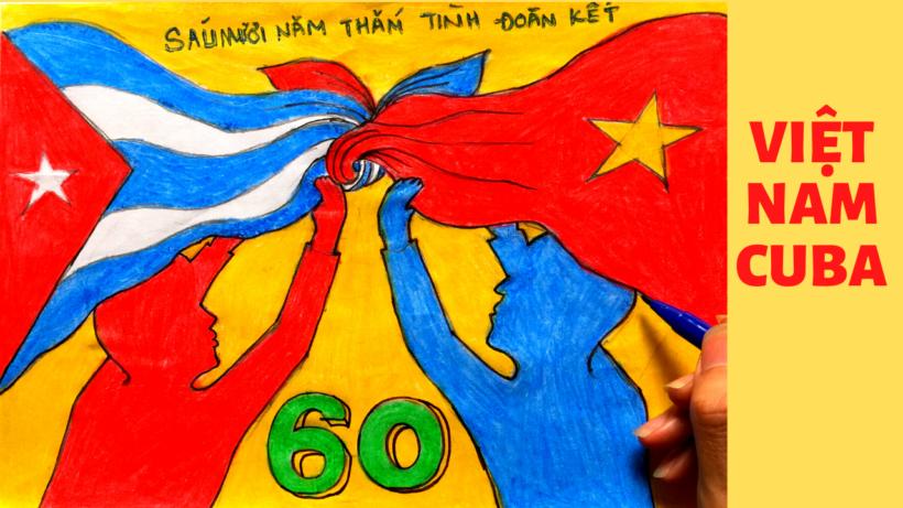 Vẽ tranh tình hữu nghị Việt Nam - Cuba 60 năm