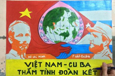 Vẽ tranh tình hữu nghị Việt Nam - Cuba đơn giản, ý nghĩa nhất
