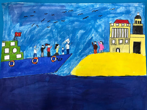 Vẽ tranh tình hữu nghị Việt Nam - Cuba tình cảm