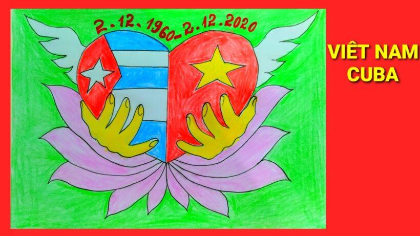Vẽ tranh tình hữu nghị Việt Nam - Cuba từ 1960-2020