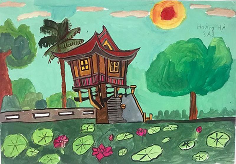 vẽ tranh về chùa một cột nét văn hóa của hà nội