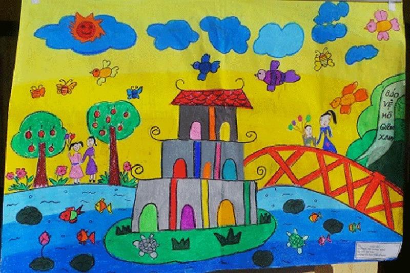 vẽ tranh về hà nội đẹp của học sinh lớp 6 7 8 9