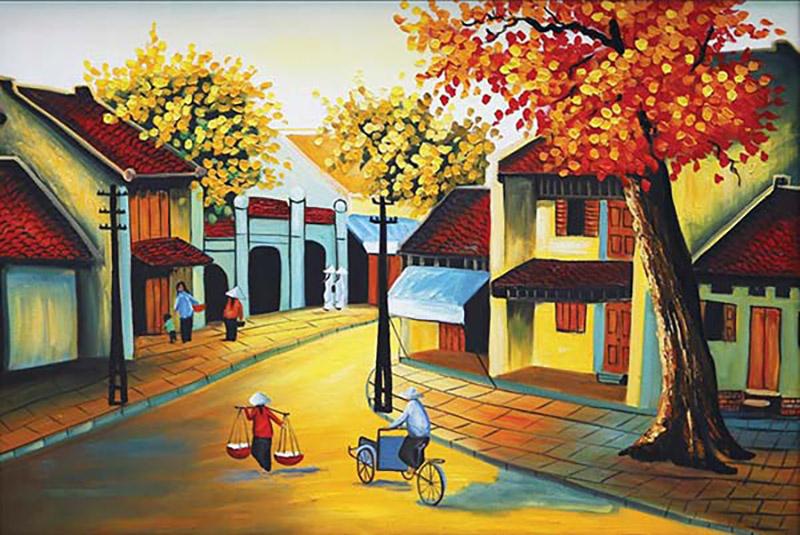 vẽ tranh về Hà Nội đẹp nhất (2)