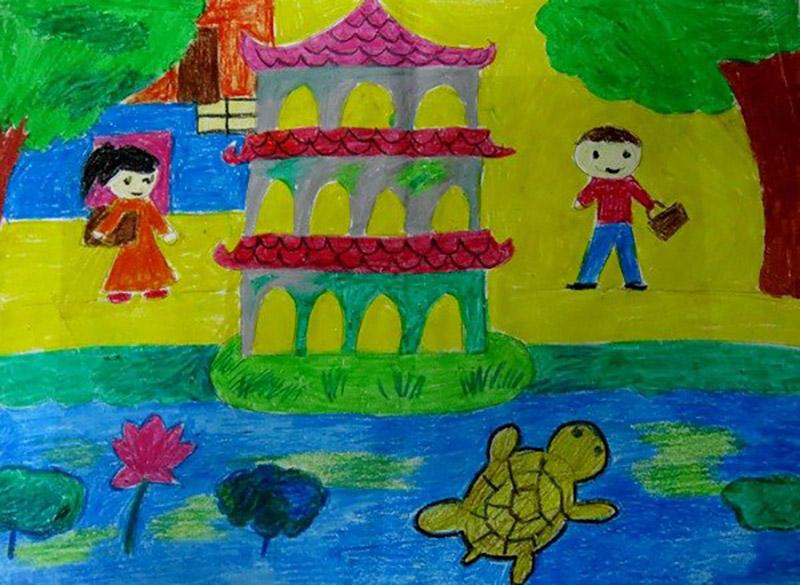 vẽ tranh về Hà Nội đẹp nhất (4)