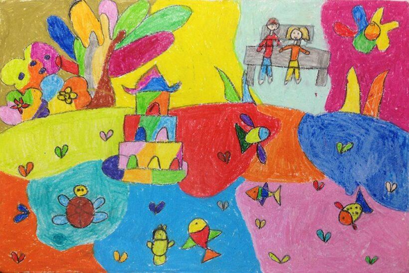 vẽ tranh về hồ Gươm đẹp nhất của học sinh