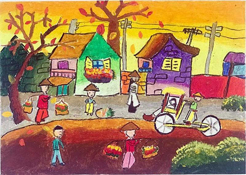 vẽ tranh về phố cổ hà nội