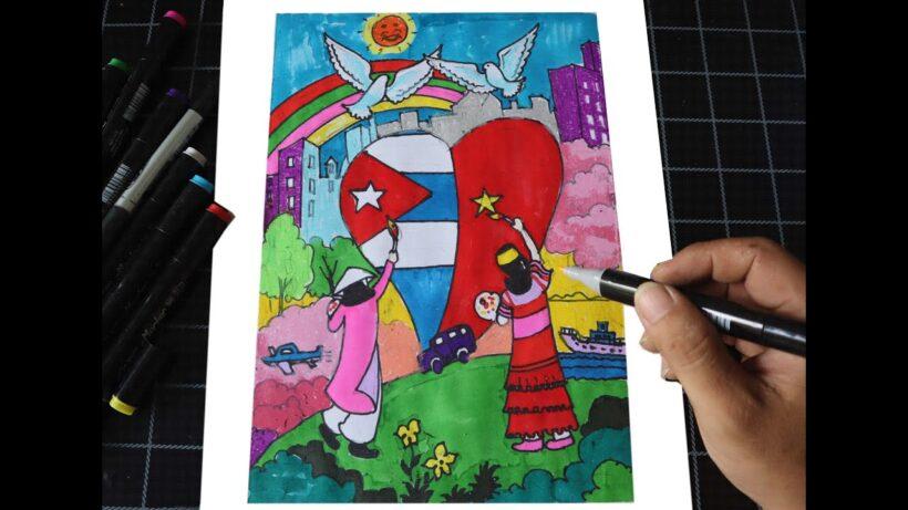 Vẽ tranh về tình hữu nghị Việt Nam - Cuba