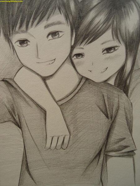 Vẽ tranh về tình yêu đẹp
