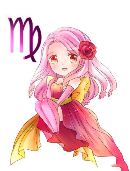 12 cung hoàng đạo anime chibi cung Xử Nữ