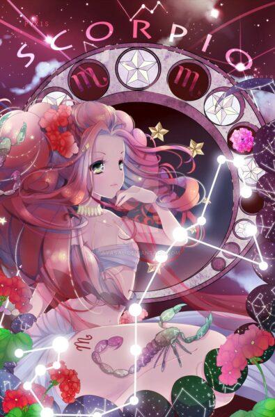 Ảnh 12 cung hoàng đạo anime cung Bọ Cạp
