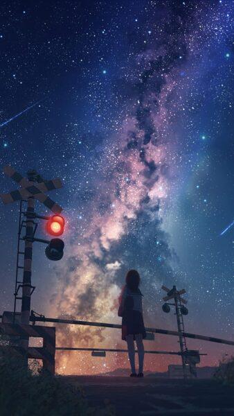 Ảnh anime bầu trời đêm đẹp