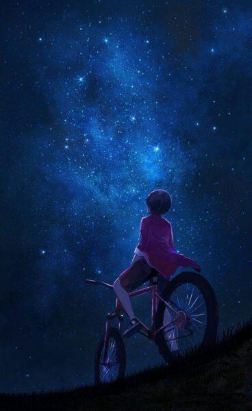 Ảnh anime bầu trời đêm đẹp nhất