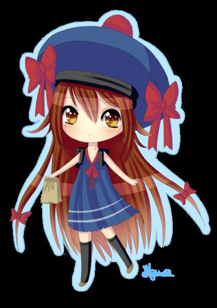 Ảnh anime chibi đội mũ cute đẹp