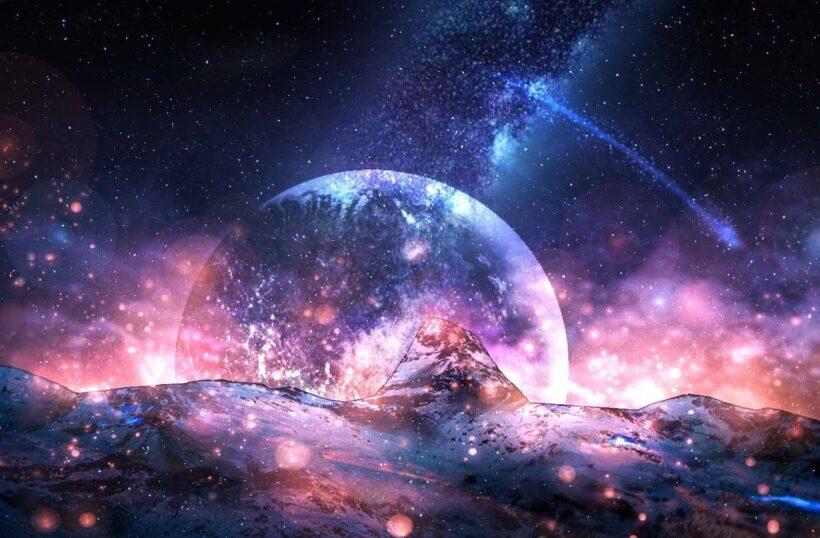 Ảnh anime Galaxy phong cảnh tuyệt đẹp