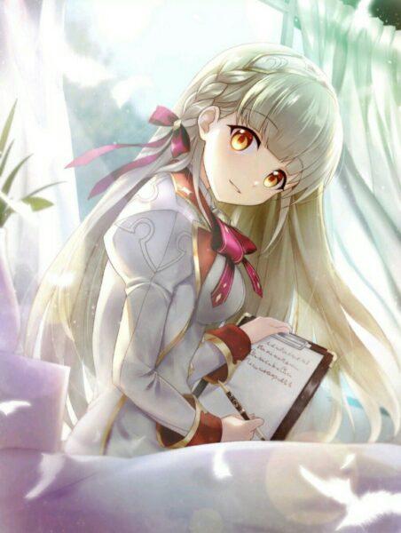 Ảnh anime girl tóc trắng
