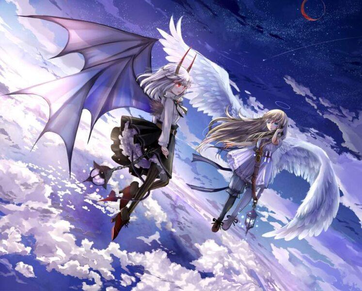 Ảnh anime thiên thần và ác quỷ