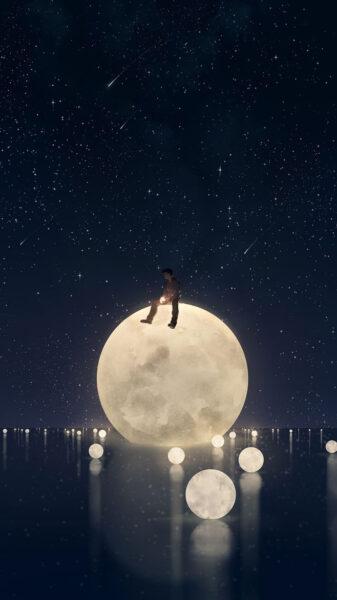 Ảnh bầu trời đêm cực đẹp cho điện thoại