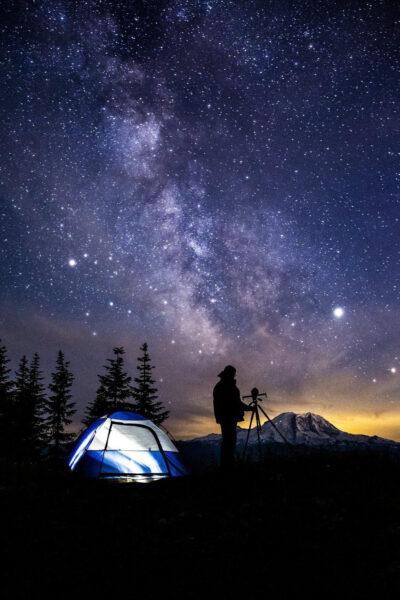 Ảnh bầu trời đêm đầy sao đẹp