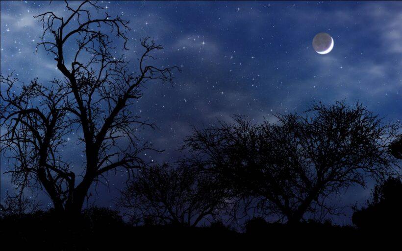 Ảnh bầu trời đêm đẹp buồn