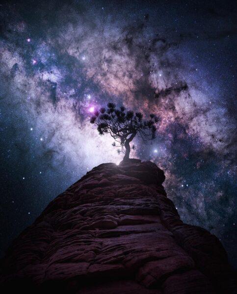 Ảnh bầu trời đêm đẹp, độc đáo