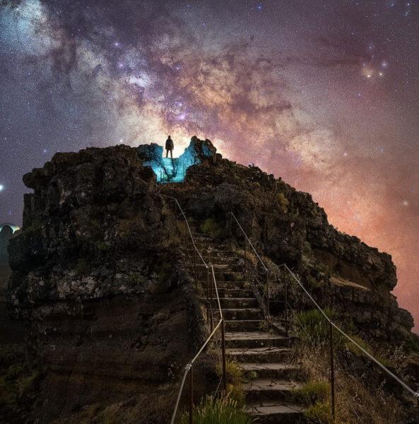 Ảnh bầu trời đêm đẹp độc đáo