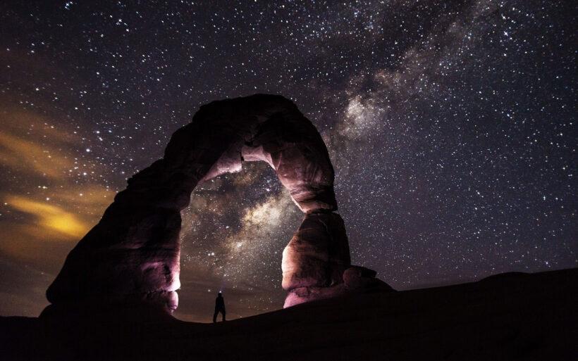 Ảnh bầu trời đêm galaxy đẹp