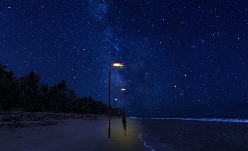 Ảnh bầu trời đêm ở bờ biển đẹp HD