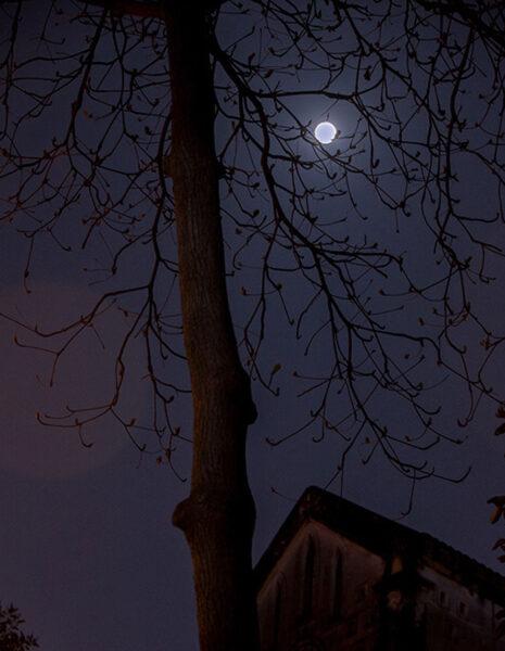 Ảnh bầu trời đêm trăng buồn đẹp