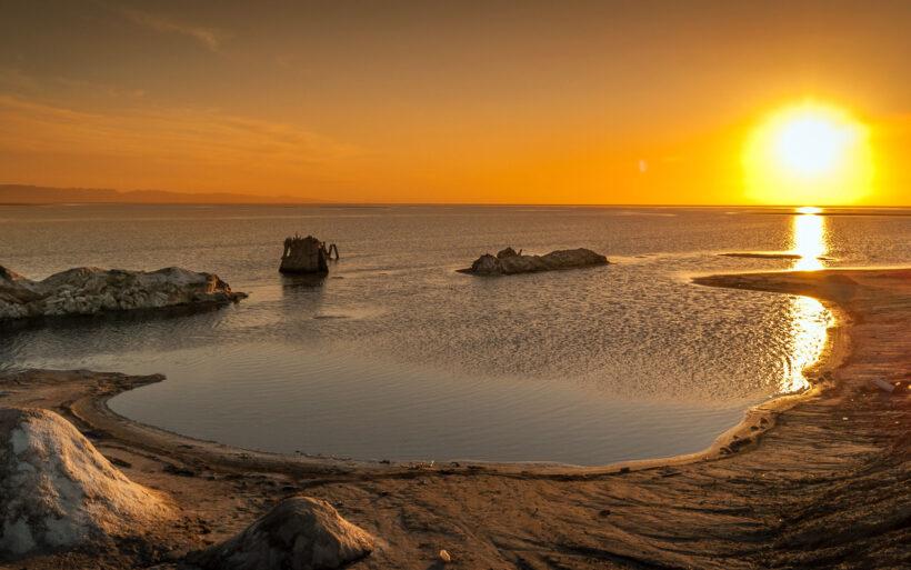 Sunset on Chott el Djerid, Tunisia