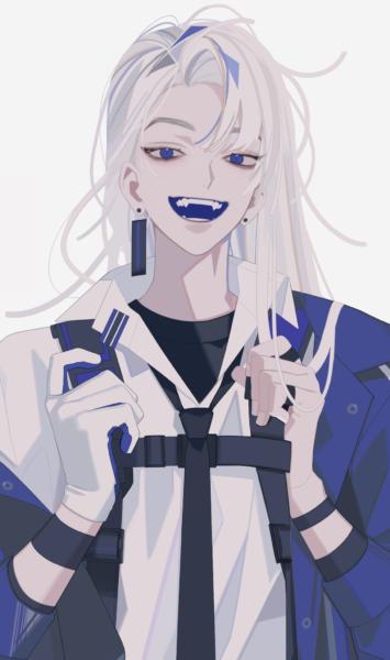 Ảnh chàng trai anime Hàn Quốc tóc trắng dài