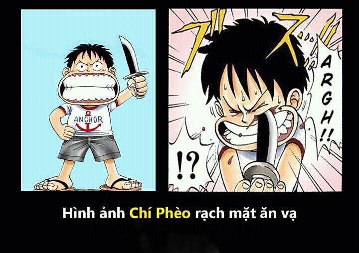 Ảnh chế One Piece ăn vạ