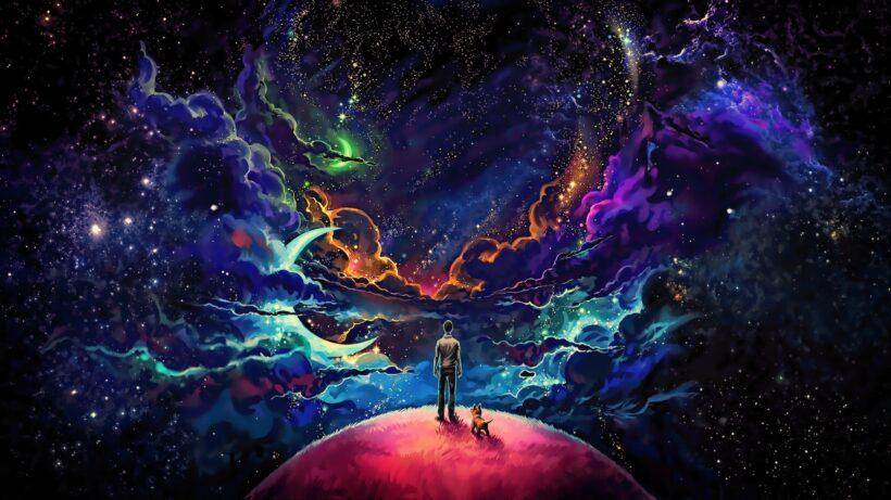Ảnh Galaxy anime phong cảnh kỳ ảo