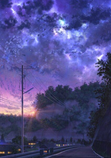 Ảnh Galaxy anime tuyệt đẹp