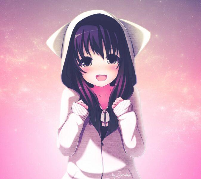 Ảnh girl anime cute đẹp cho điện thoại