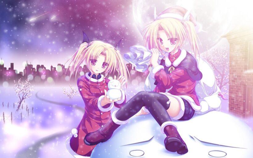 Ảnh hai nữ anime mùa đông