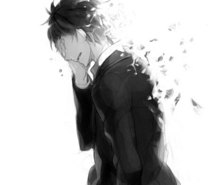 Ảnh hoạt hình buồn khóc nam