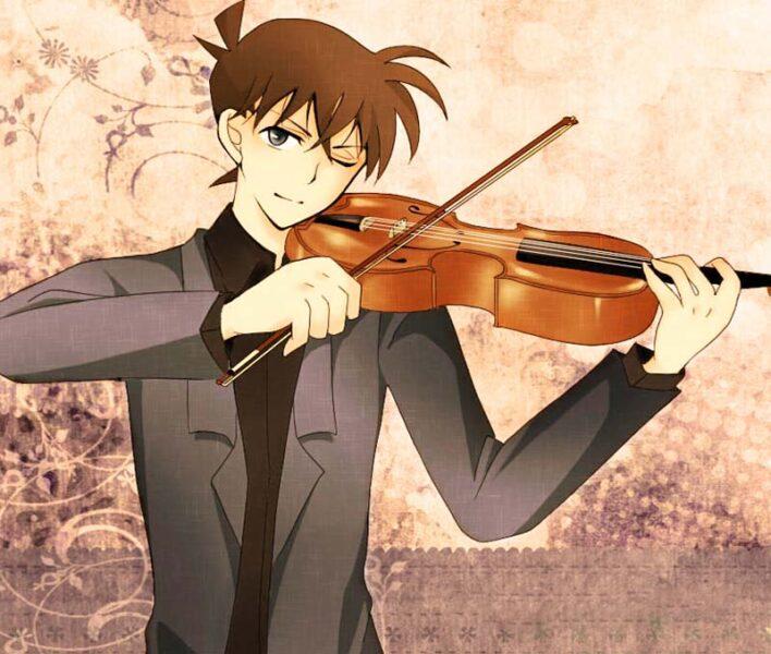 Ảnh Kudo Shinichi chơi violin