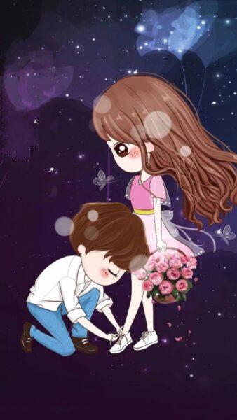 Ảnh nền anime cute đẹp về tình yêu