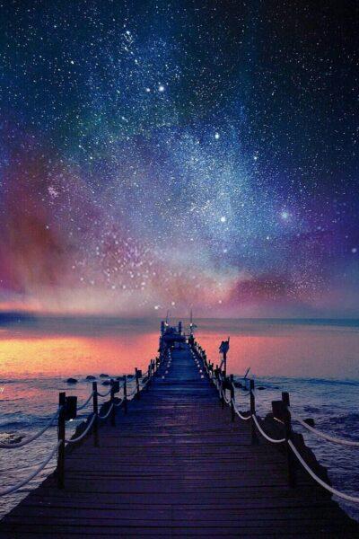 Ảnh nền bầu trời đêm đẹp cho điện thoại