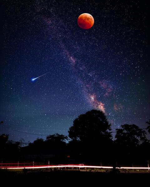 Ảnh phong cảnh bầu trời đêm đẹp
