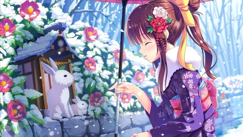 Anime cô gái mùa đông