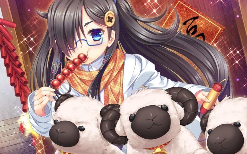 anime girl đeo kính cute
