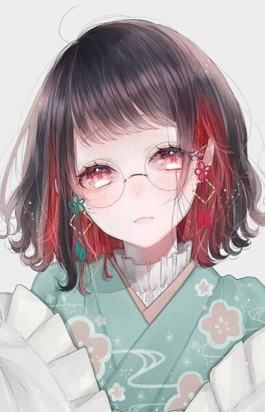 anime girl đeo kính đẹp