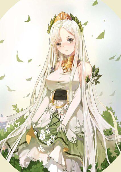 Anime girl tóc trắng dài đẹp