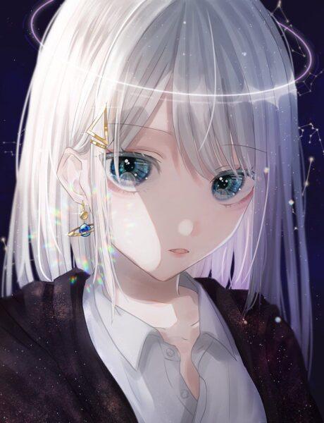 anime girl tóc trắng ngầu